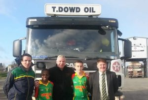 Tommy Dowd in group with truck
