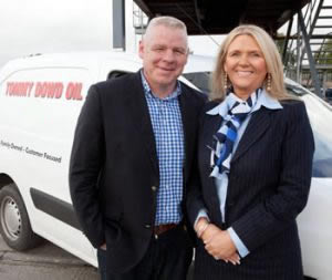 Tommy Dowd with his wife Geraldine - suppliers of the home heating oil