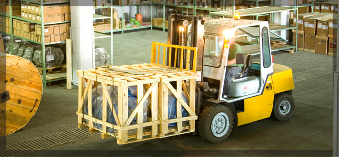 we deliver commercial fuel - picture of a forklift