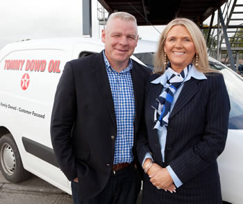Tommy & Geraldine Dowd with van